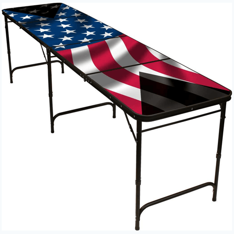 USA Flag 8' Beer Pong Table