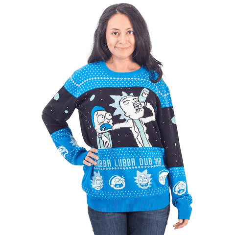 Women's Wubba Lubba Spaceship Ugly Christmas Sweater