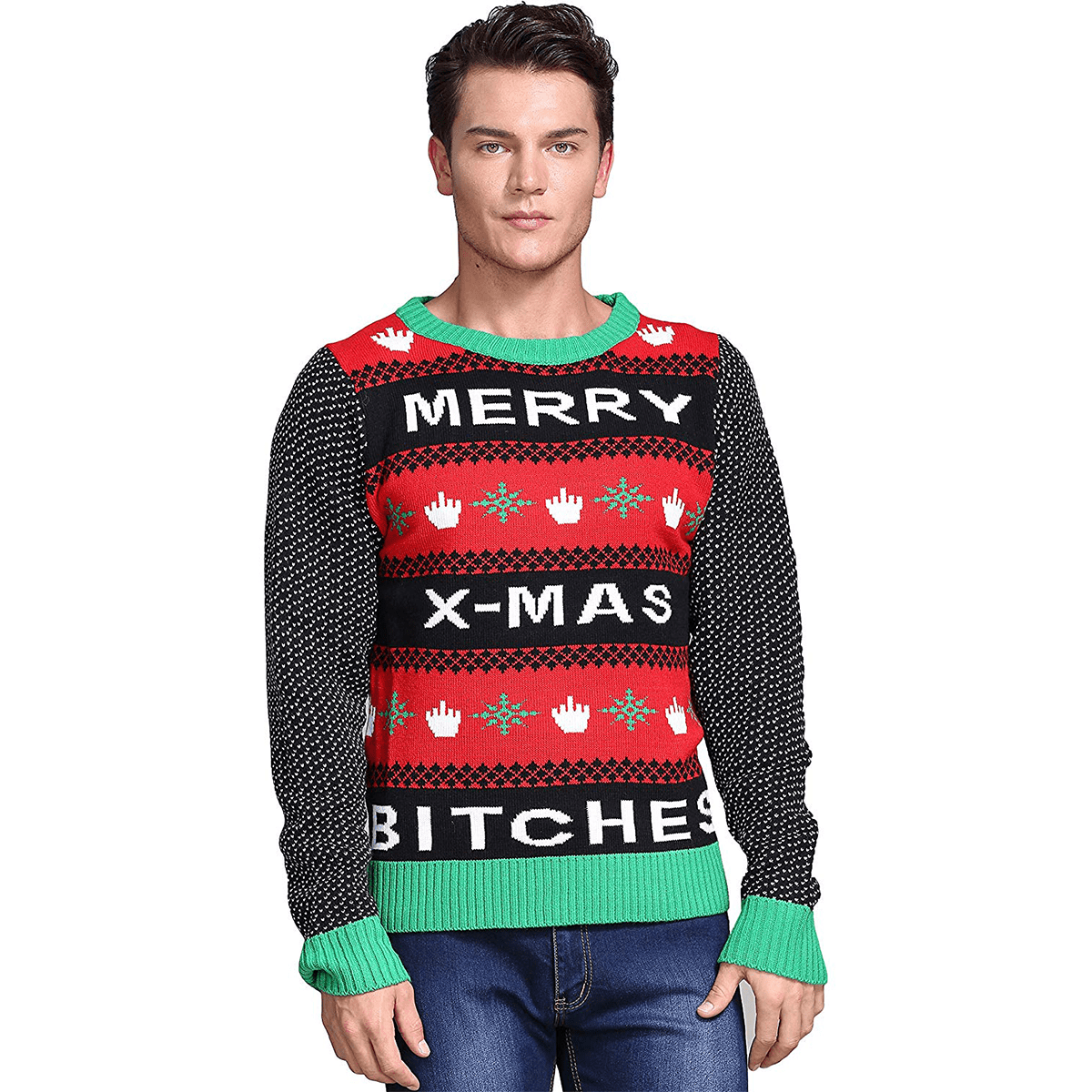 97b91db2 Men's Merry X-Mas Ugly Christmas Sweater | American AF - AAF Nation