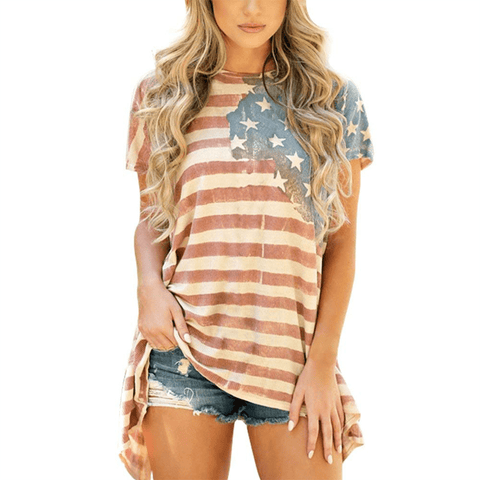 USA Flag Long Tee