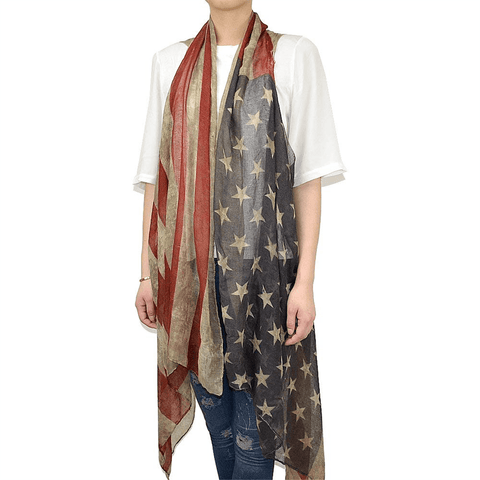 Faded Flag Cardigan Vest