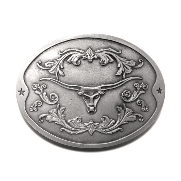Longhorn Beer Belt Buckle - Bottle Holder