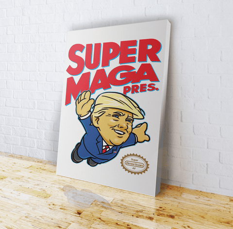 Super MAGA Pres (parody) - Canvas