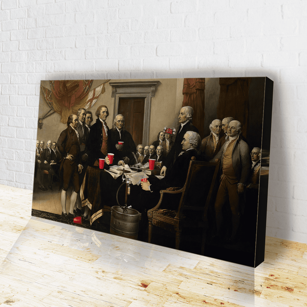 Party Like Our Forefathers Canvas