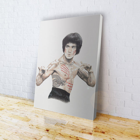 INKED - Bruce Lee Canvas