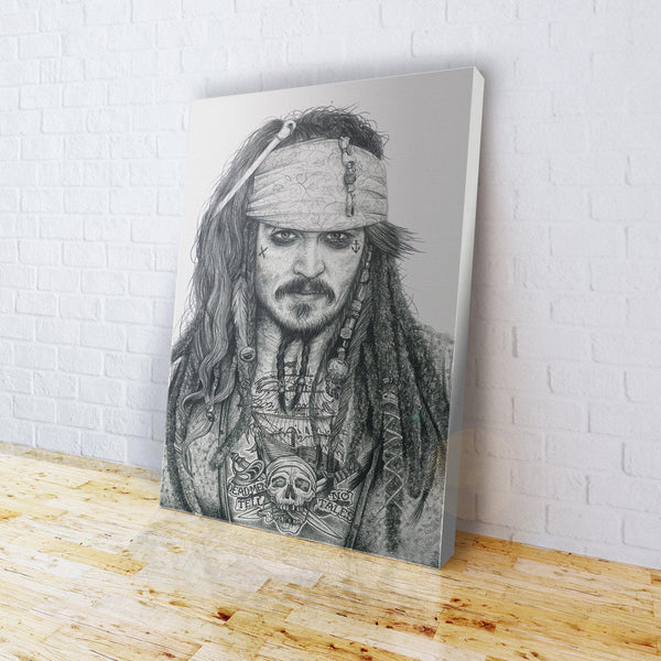 INKED - Jack Sparrow Canvas