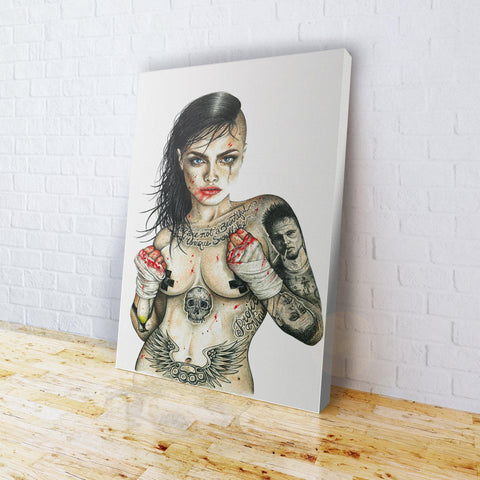 INKED - Fight Club Girl Canvas
