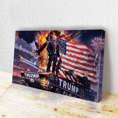 Donald Trump Gold Plated Canvas