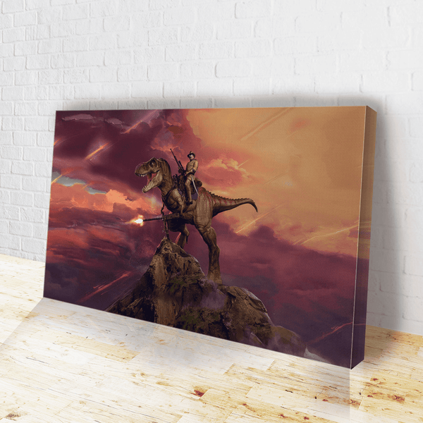 Teddy T Rex Canvas