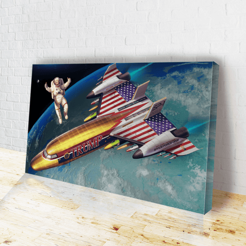 Trump: Space Force One - Canvas