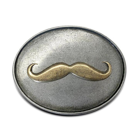 Mustache Beer Belt Buckle - Bottle Holder