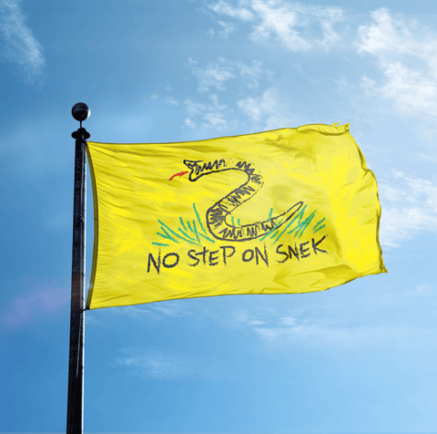 USMC - No Step On Snek - Flag