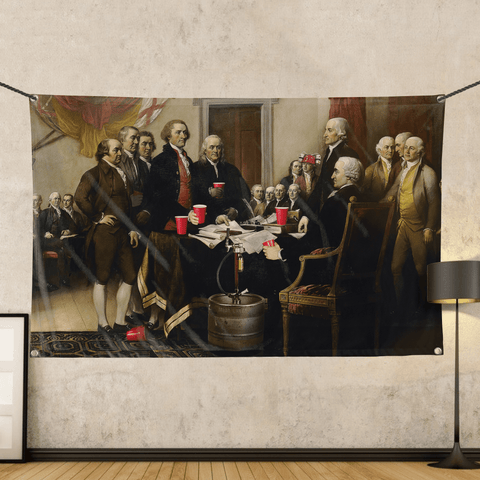 Party Like Our Forefathers - Wall Flag