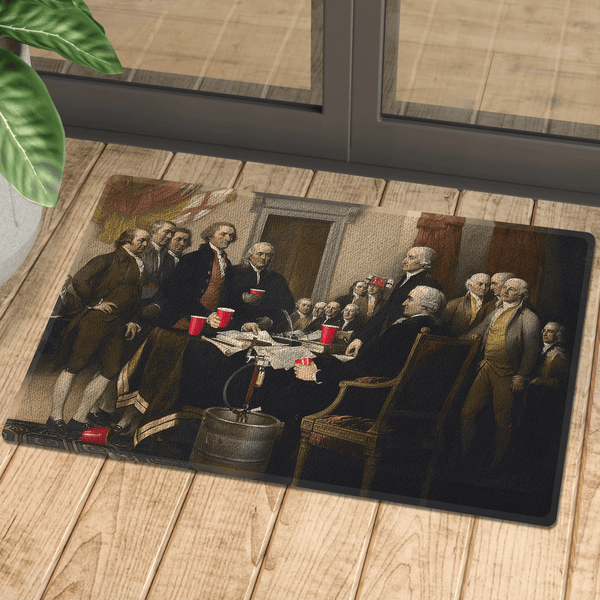Party Like Our Forefathers Door Mat