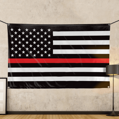 Thin Red Line - Wall Flag