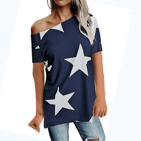 Freedom Stars Off Shoulder Tee