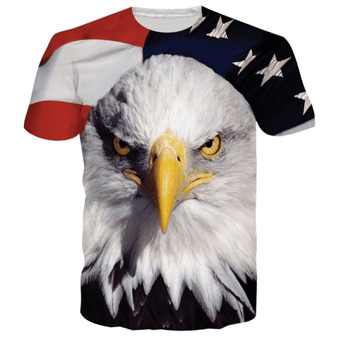 Patriotic Bald Eagle Shirt