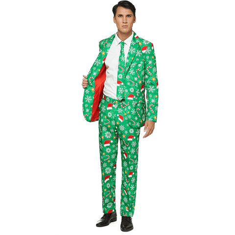 Green Snow Christmas Suit