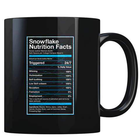 Snowflake Nutrition Facts - Coffee Mug