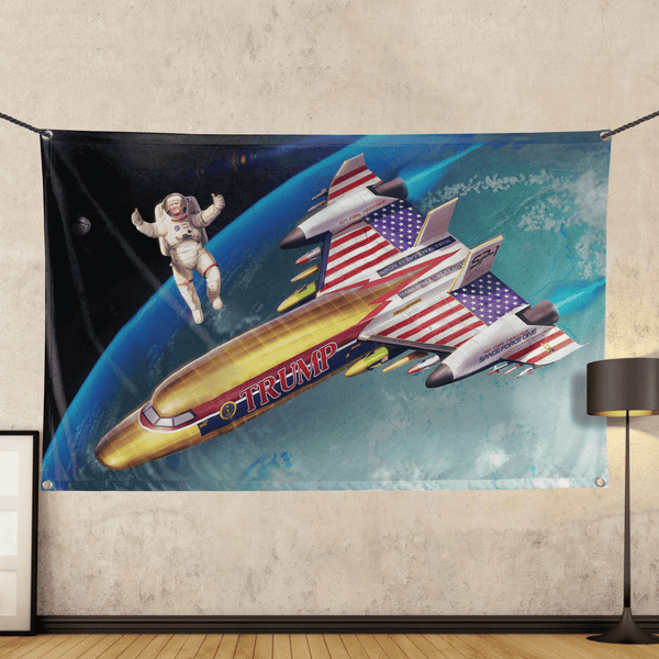 Trump: Space Force One - Wall Flag