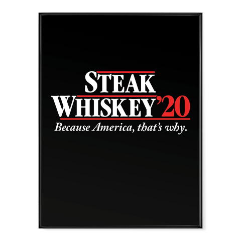 Steak Whiskey - Poster