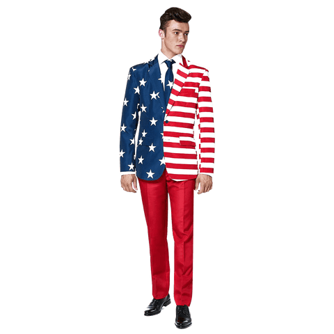 Red White & Smooth Suit