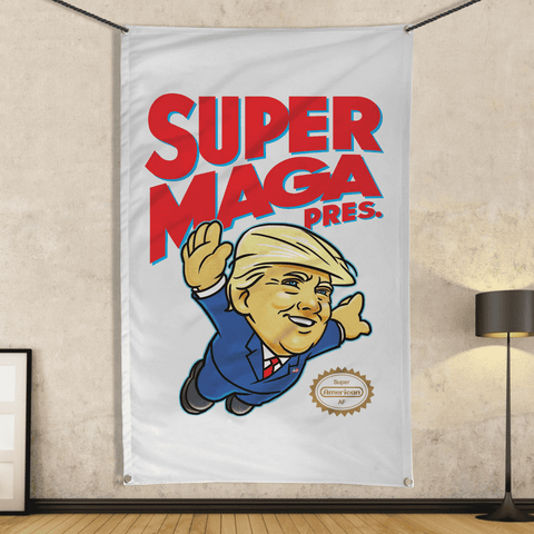 Super MAGA Pres (parody) - Wall Flag