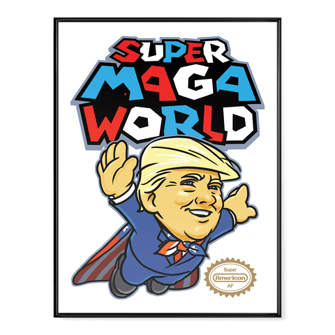 Super MAGA World (parody) - Poster