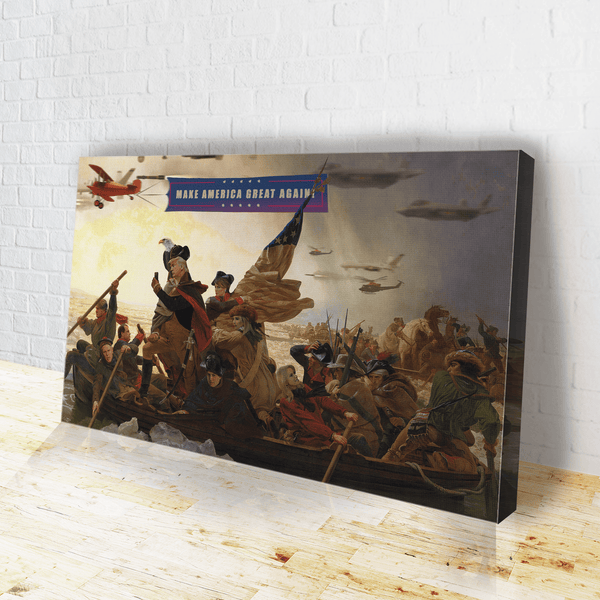 Trump Crossing Delaware - Canvas