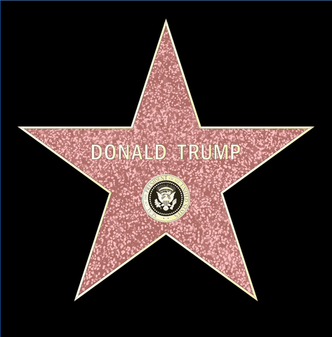 Trump Star Sticker (Pack of 5)