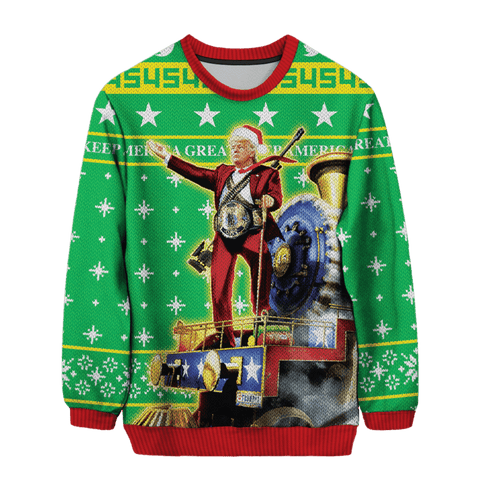 Trumptrain Christmas Sweater