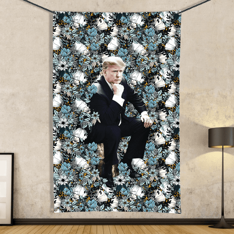 Trump Wiley - Wall Flag