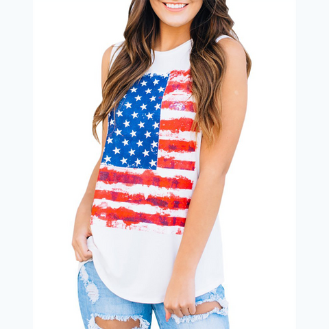 USA Flag Summer Top