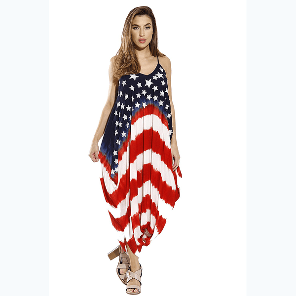 USA Flag Harem Jumpsuit