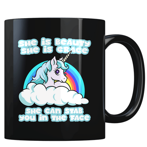 She Can Stab You in the Face - Coffee Mug