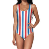 Red Blue Stripes Swimsuit