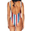 Red Blue Stripes Swimsuit - Modern