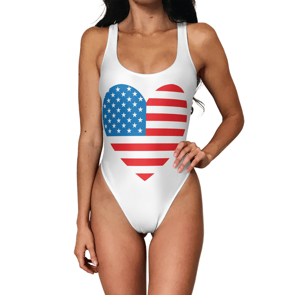 My Heart Belongs to America Swimsuit - Modern