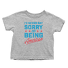 Never Say Sorry American - Toddlers