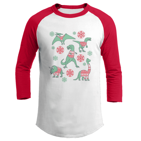 Dinos In Christmas Sweaters - Kids