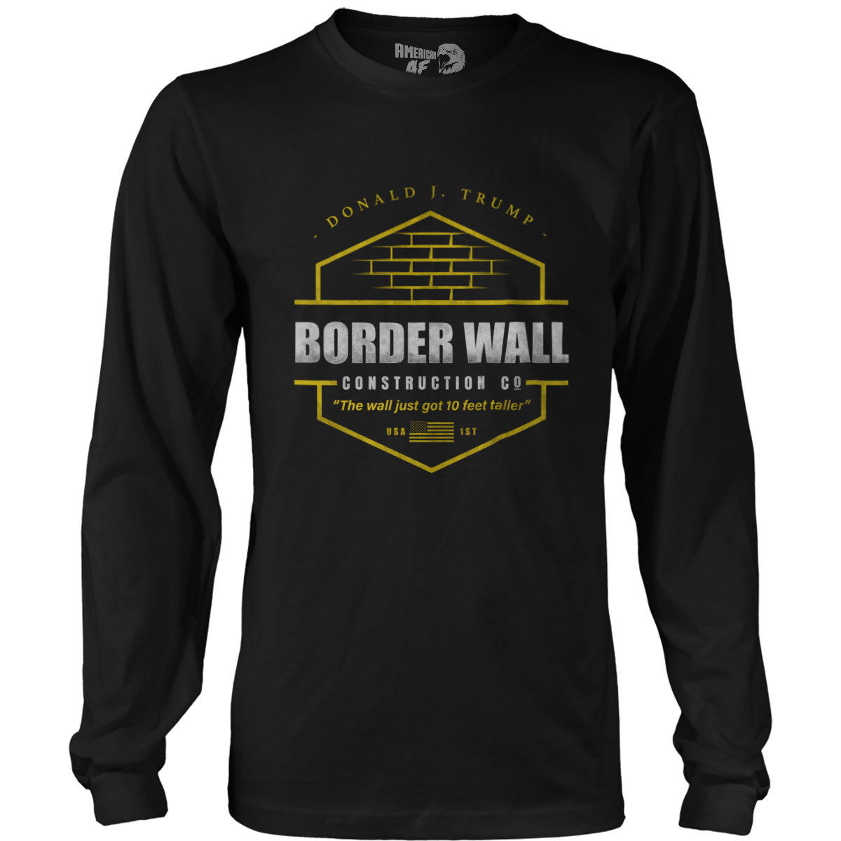 Trump Border Wall Construction Co Parody Men/'s T-Shirt up to 5x NEW DESIGN 2