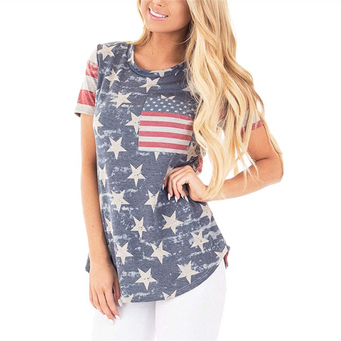Casual USA Flag Tee