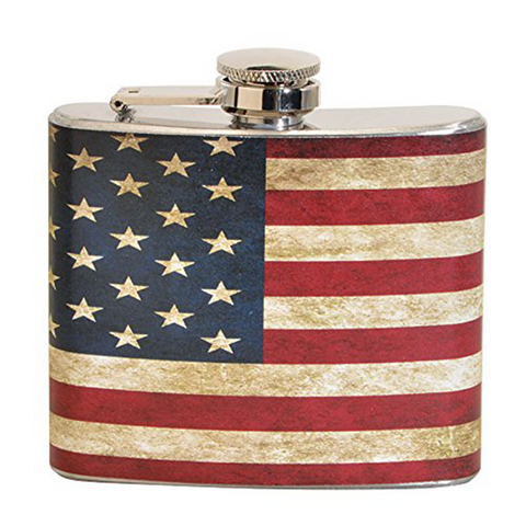 USA Flag 5 oz. Stainless Steel Flask