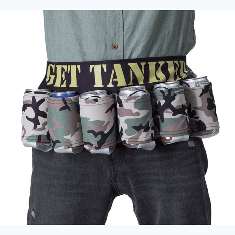 Get Tanked Camo Beer Belt