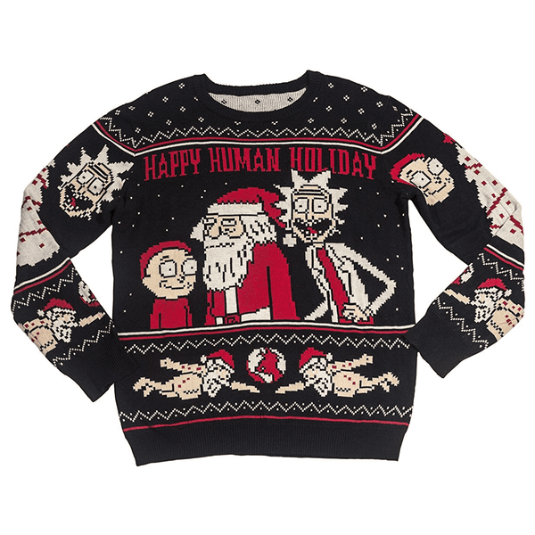1936a2c51 Men's Happy Human Holiday Ugly Christmas Sweater | American AF - AAF Nation