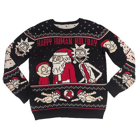 Men's Happy Human Holiday Ugly Christmas Sweater