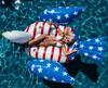 American Flag Bald Eagle Pool Float