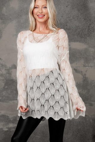 Abby Scallop Lace Blouse