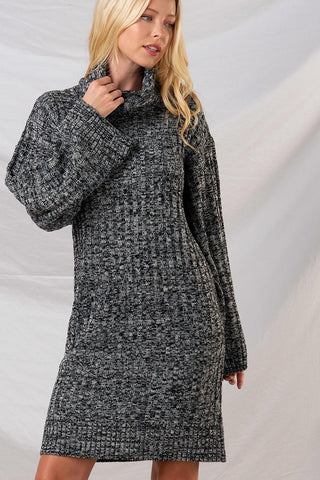 Jasmine Cow-Neck Cozy Sweater Dress