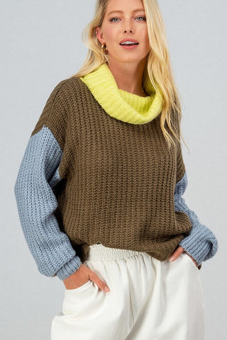 Sable Cowl Neck Sweater